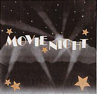 Movie Night Beverage Napkins