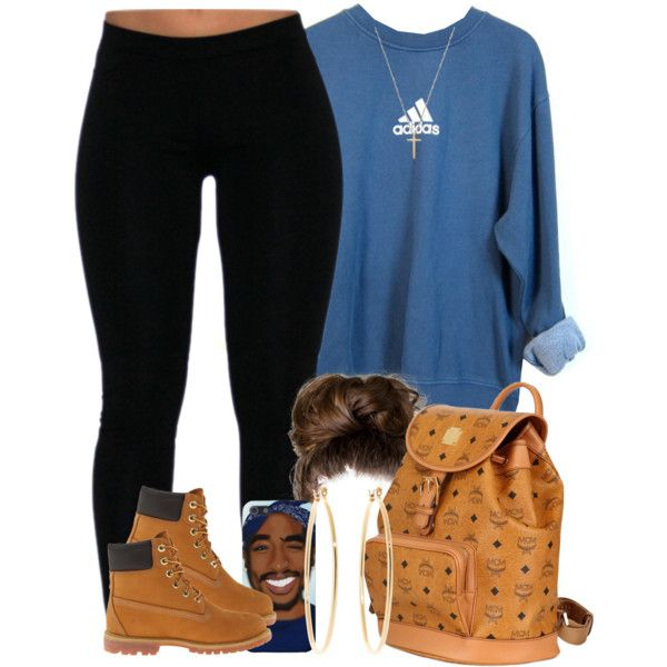 They say people from NYC love timbs.. I agree with them lmaoo by livelifefreelyy on Polyvore featuring polyvore, fashion, style, adidas, Timberland, Brooks Brothers, Gucci, MCM, women's clothing and women's fashion