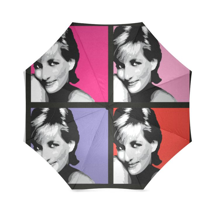 Princess Diana Folding Umbrella. by bestofbloodybritish on Etsy