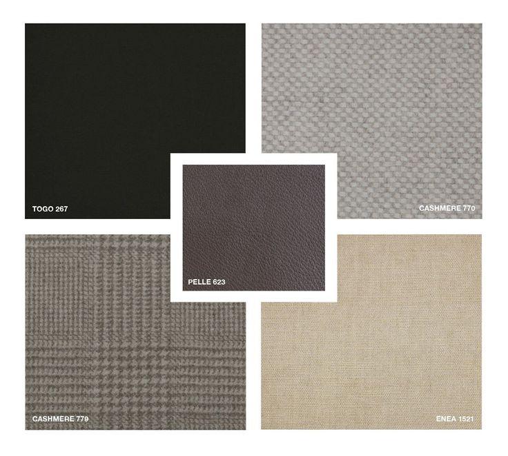 Leather: Pelle 623 Fabric: Enea 1521 Velvet: Togo 267 Cashmere 770, 779