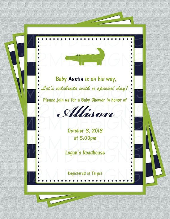 best 25+ alligator baby showers ideas on pinterest, Baby shower invitations