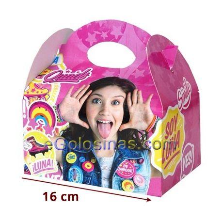 CAJITA SOY LUNA 4uds 4uds son cajitas VACÍAS para llenar de golosinas de 16x16x11cm. Ideales para fiestas de cumpleaños y fiestas infantiles