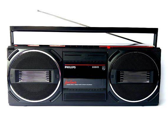 Philips D8043 Boombox Ghetto Blaster Radio Cassette Player