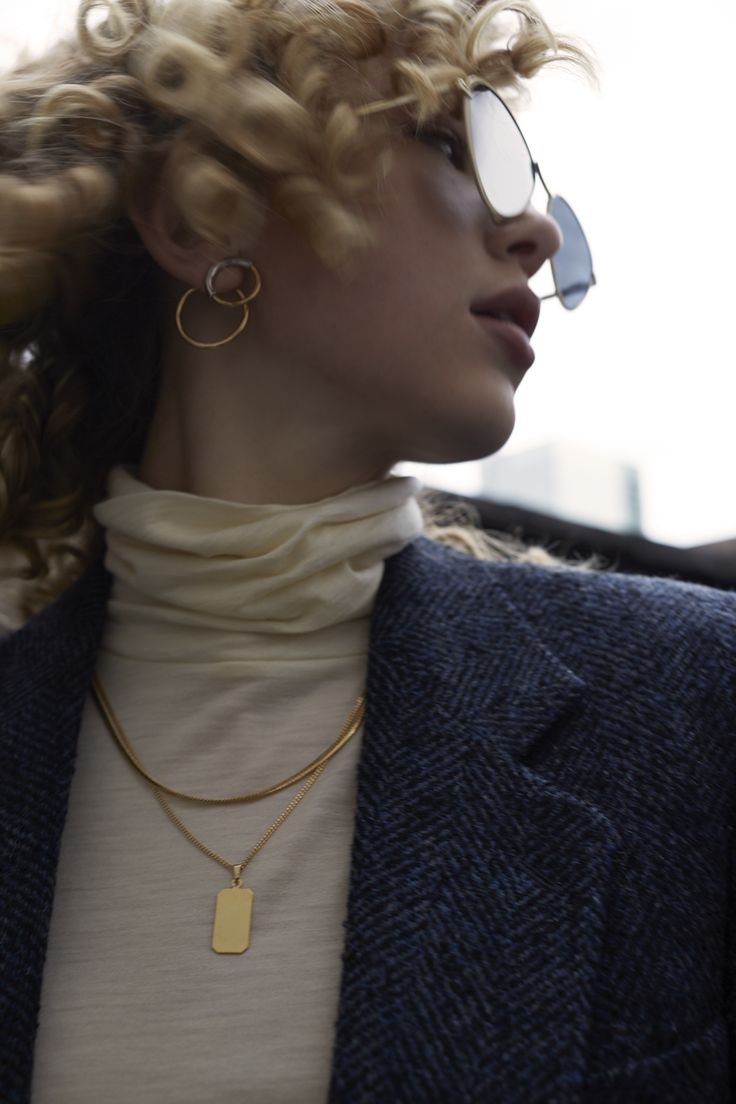 Hayley is wearing the Jenny Bird Ossie Ear Jackets in Mixed for ZANE FW17 (Sunglasses: LeSpecs, Necklace: Cuchara)