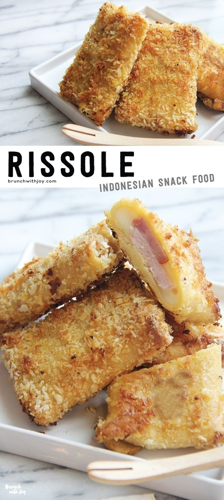 Use up your leftover ham and eggs from Easter by making this yummy rissole (#risoles). Say goodbye to boring leftovers for lunch! #SundaySupper