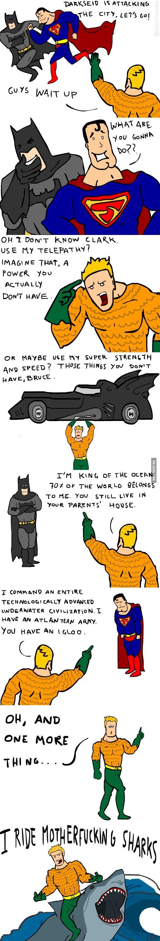 Don't Mess Wth Aquaman! Even Batman Can't Beat Him! <<<< uhh batman can beat anyone