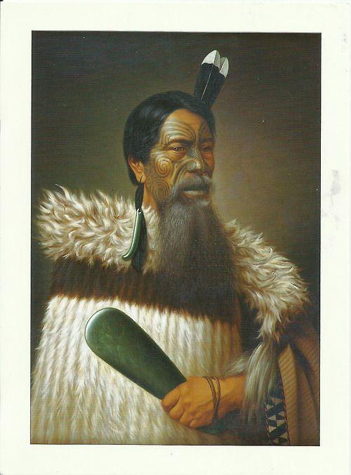 The postcard came from New Zealand  Maori Warrior, Renata Kawepo Tama-K-Hikarangi by Gottfried Lindauer (1839-1926)