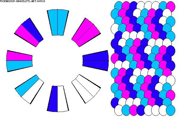 16 strand kumihimo pattern