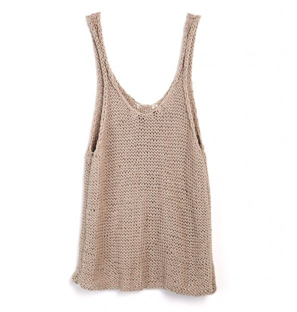 Tank Top Knitting Patterns : 17 Best ideas about Knitted Tank Top on Pinterest Summer tops 2014, Summer ...