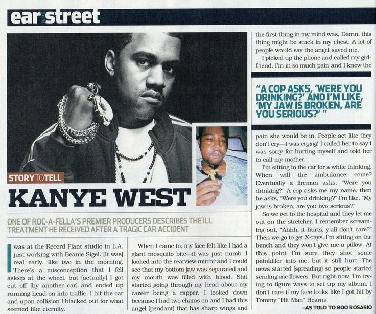 Kanye West Accident Article