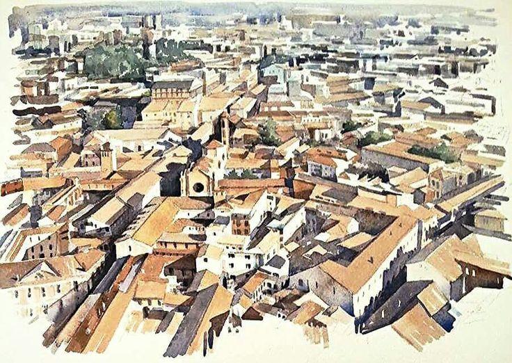 Bologna, watercolor.