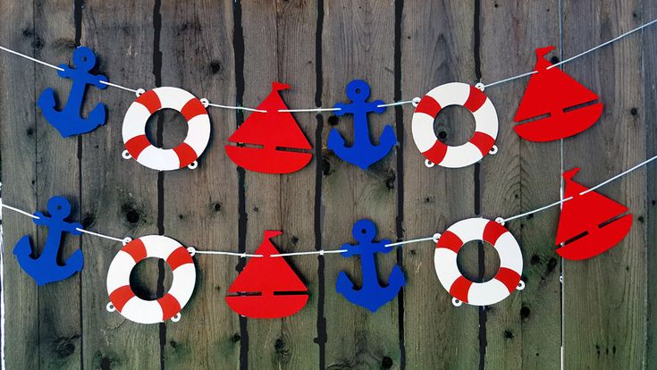 Nautical Garland, Nautical Banner, Nautical Baby Shower, Nautical Birthday, Anchor, Sailboat, Life Saver, Photo Prop, Nautical Decorations by CraftyCue on Etsy https://www.etsy.com/listing/529826931/nautical-garland-nautical-banner