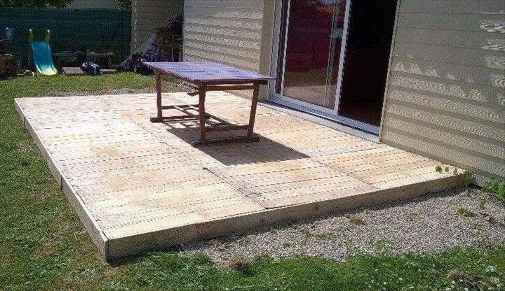 Reclaimed Pallet Deck Flooring Pallet Outdoor Pallet Decking