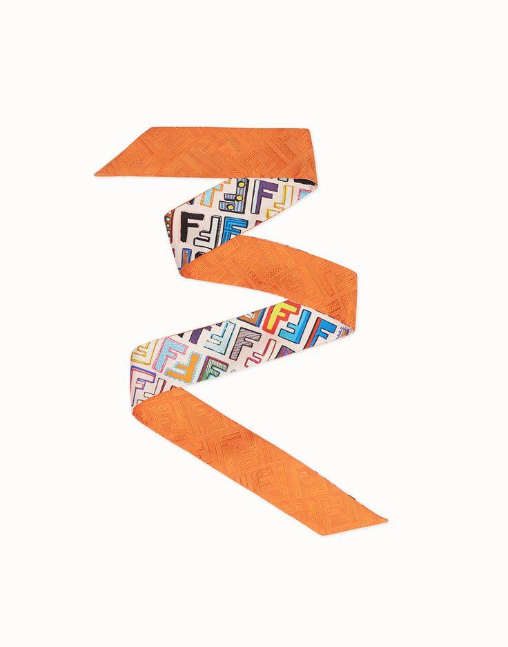 FENDI FUN FENDI WRAPPY - Multicolour silk bandeau - view 1 detail