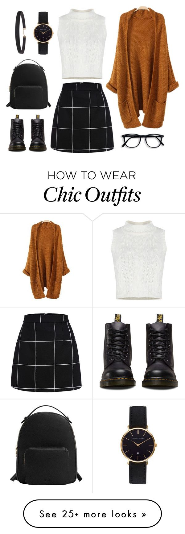 """Look"" by sasha-karsakova on Polyvore featuring Dr. Martens, MANGO, Abbott Lyon and Humble Chic"