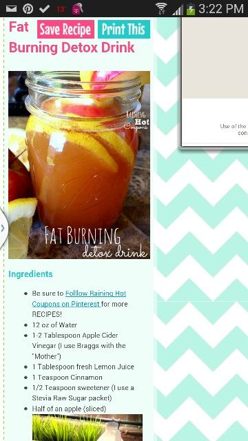 Apple cider vinegar detox drink recipe