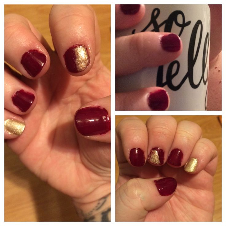 Getting my fingernails ready for Fall with a deep wine-red polish from Formula X :)