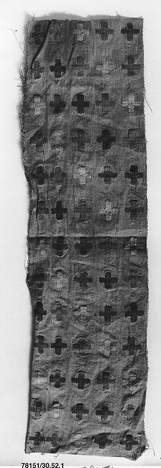 Textile Fragment, Peru, south coast, 15th-16th century. Metropolitan Museum of Art, online collection.