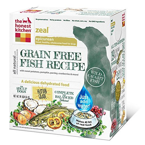 The Honest Kitchen Zeal Grain Free Dog Food - Natural Human Grade Dehydrated Dog Food, White Fish, 10 lbs (Makes 40 lbs) - ABOUT FORCE DEHYDRATED DOG FOOD: The Honest Kitchen Zeal dog food is an epicurean, grain-free, gluten-free recipe made with wild-caught, Marine Stewardship Council certified white fish, and antioxidant-rich produce. It's an easy-to-digest recipe that's great for pups who can't tolerate more commo...