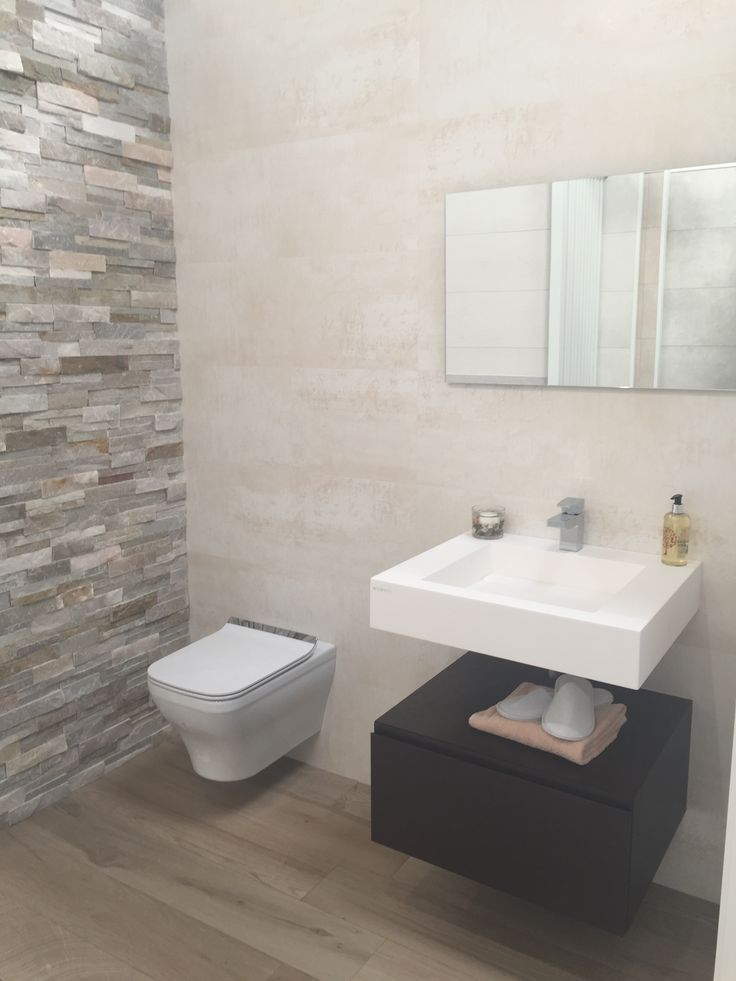 Coastal Bathroom Tile Ideas Part - 24: Split Face, Slate, Stone Tile Feature Wall And Bathroom Tiles By  Porcelanosa. Neutral