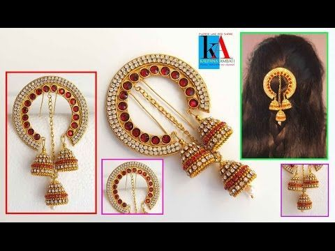 How to make 5 minutes Hair accessories | latest jewellery Model No 1 – YouTube