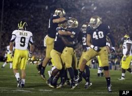 #NotreDame, #Notre #dame, Football  Notre Dame Football: No. 11 Irish Defeat No. 18 Michigan, 13-6