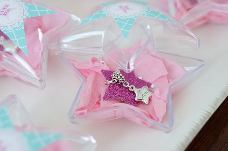 """""""Wish"""" necklaces as favors for the guests! Make-a-Wish Birthday Party 