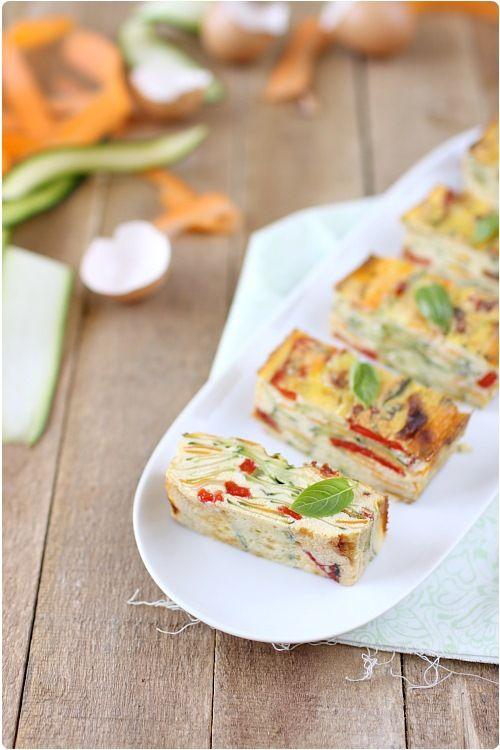 Omelette de légumes façon flan