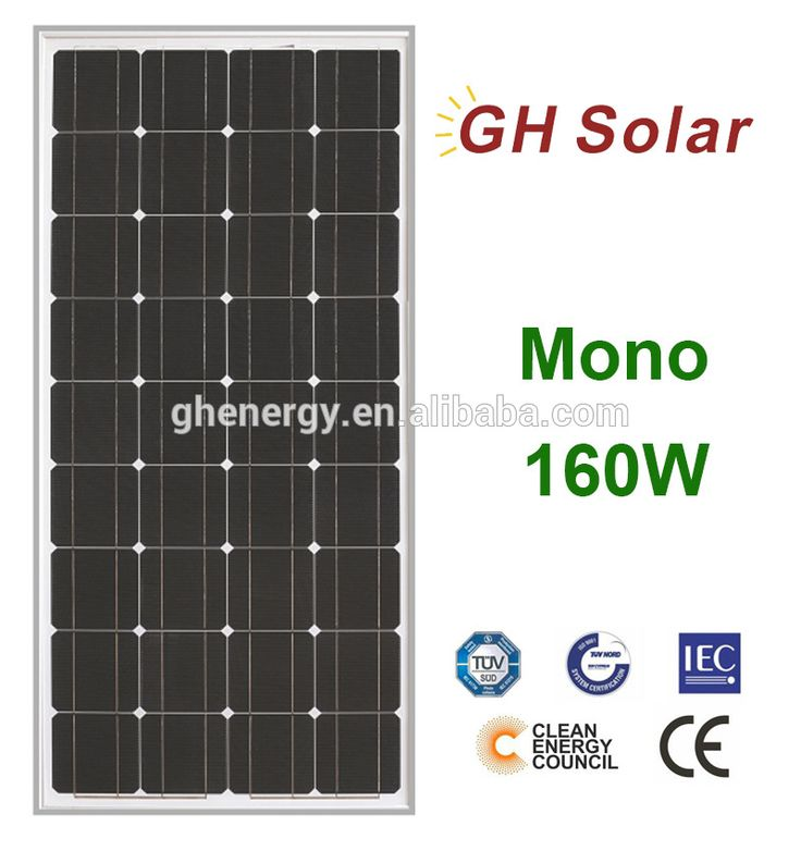 GH SOLAR-best price TUV CEC CE 160W mono solar panel made in china top point sunrise pv solar panels