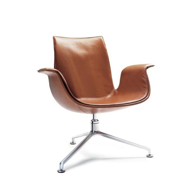 Preben Fabricius & Jørgen Kastholm; Chromed Metal and Leather 'FK' Chair for Walter Knoll, 1969.
