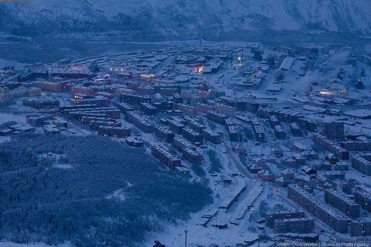 Ville de Kirovsk péninsule de Kola photosommet montagne Aikuaivenchorr (54)