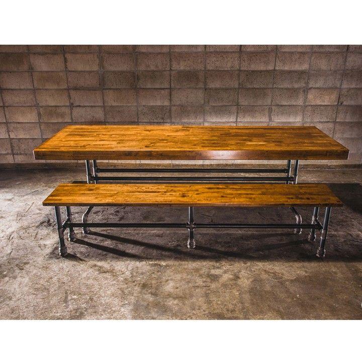 Идея 667.Обеденный стол со скамьей из водопроводных труб и массива. ЦЕНА Стол от 25 000 руб. Скамья от 8 000 руб.  Ставими подписываемся! #homeloftидеи #homeloftideas #moscow #москва #красиво #homeloftstudio #loft #design #interiordesign #interior #decoration #plumbingpipes #furniture #diy #pipes #modernthings #plywood #лофт #дизайн #дизайнинтерьера #мебель #своимируками #модныевещи #фанера #трубы  Наш сайт: http://ift.tt/1Gqk6a3 В контакте: http://ift.tt/1qiQPuE Facebook…