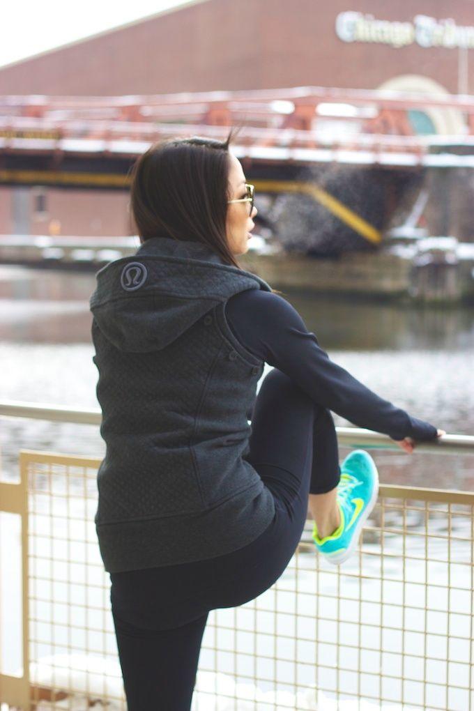 workout gear // Lululemon jacket converts to a vest