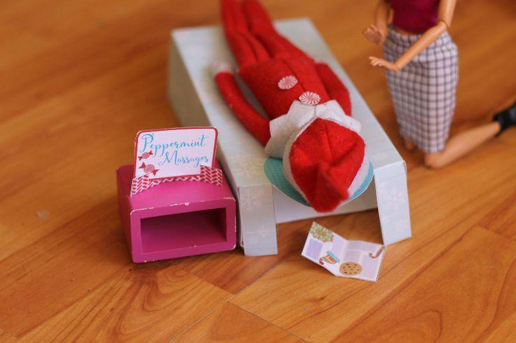 elf on a shelf massage table