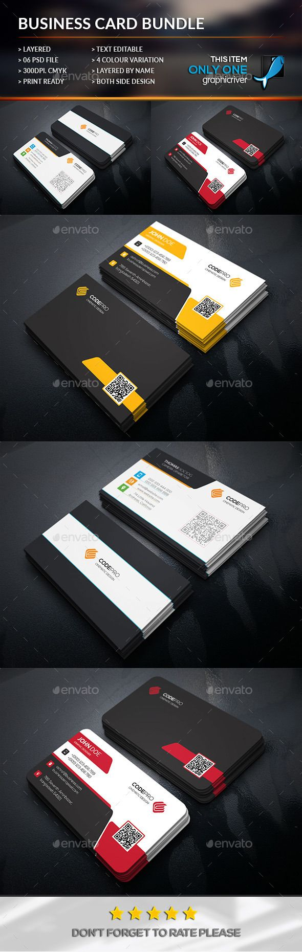 Simply Business Card Bundle Template #print #design Download: http://graphicriver.net/item/simply-business-card-bundle/12043353?ref=ksioks