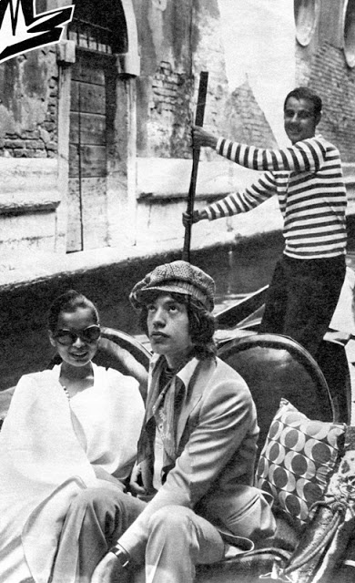 Bianca and Mick Jagger in Venice