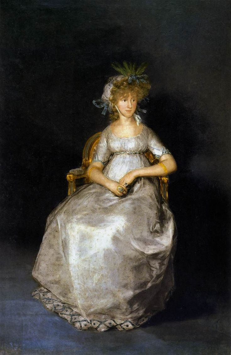GOYA Y LUCIENTES, Francisco de The Countess of Chinchón 1800 Oil on canvas, 216 x 144 cm Museo del Prado, Madrid
