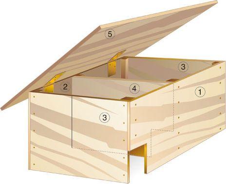 igelhaus selber bauen der aufbau igel pinterest. Black Bedroom Furniture Sets. Home Design Ideas