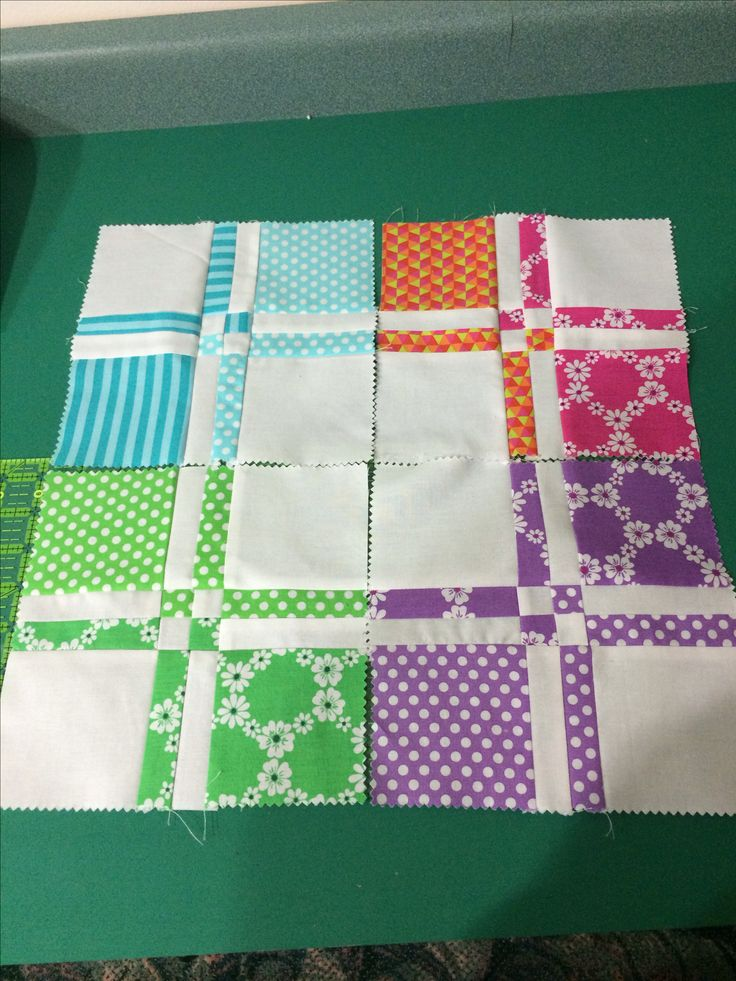 Disappearing Four Patch blocks #quilting #blocks #disappearing_four_patch