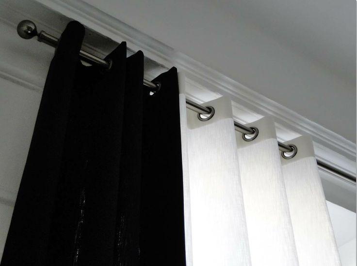 Les 25 meilleures id es concernant rideaux noirs sur - Rideaux design noir et blanc ...