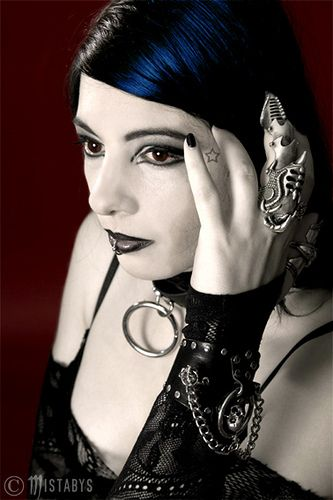 "- ""Fragile"" - (goth girl portrait) by mistabys, via Flickr"