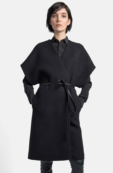 Free shipping and returns on Saint Laurent Wool Blend Kimono Wrap Coat at Nordstrom.com. Felted wool with an infusion of angora wraps the figure in a luxurious coat styled with chic kimono sleeves and a polished leather belt for a sophisticated silhouette.