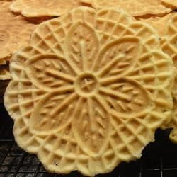 I have the press thingies to make these http://allrecipes.com/PersonalRecipe/63013407/Jans-Thin-and-Crispy-Pizzelles/Detail.aspx