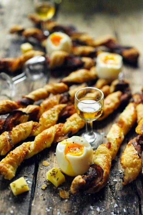 Apérooooo ! Le cri du vendredi ! Et petits tortillons au lard tout simples pour étancher… la faim !