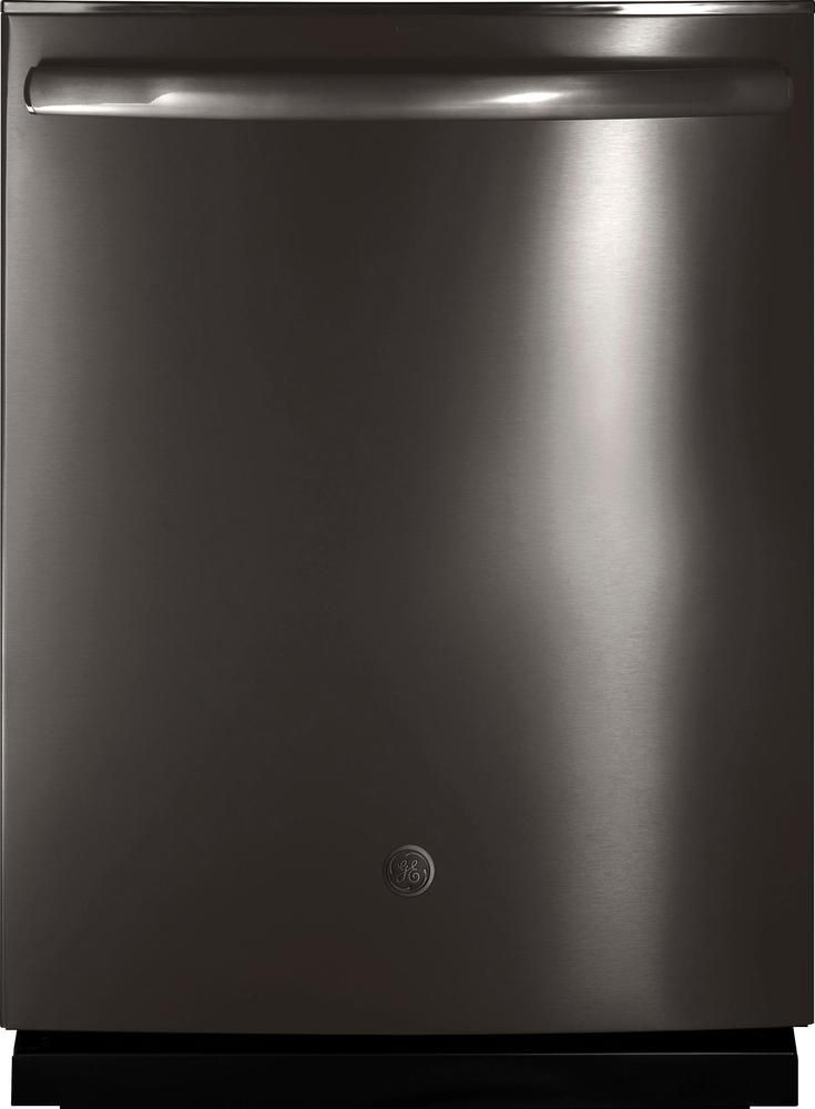 """GE - 24"""" Built-In Dishwasher - Black stainless"""