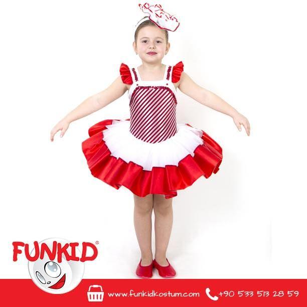 """""""Funkid Ülkesi'nin tatlıyı en çok seven çocuğu Şeker Kız'dı. Tıpkı ismi gibi çok şekerdi ve her zaman gülümser, çevresindeki herkesi mutlu ederdi."""" Kısa tütü model, saten kumaş kullanılarak hazırlanan, çiçek tacıyla harika bir kostüm! funkidkostum.com veya 0533 513 28 59 dan ulaşabilirsiniz. #funkidkostüm #kids #costume #kostum #çocuk #tütü #tütüelbise — Funkid Kostüm'de."""