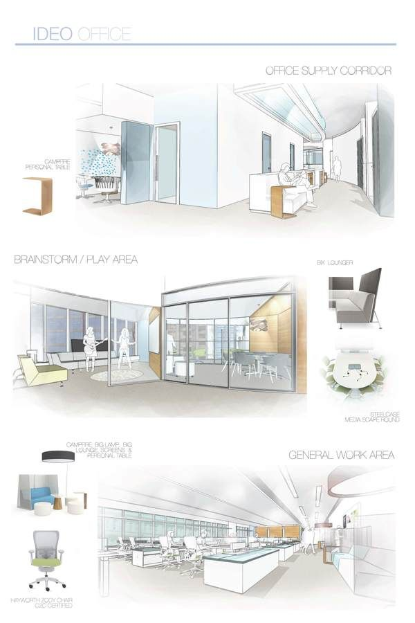 25 best ideas about interior sketch on pinterest for Site office design