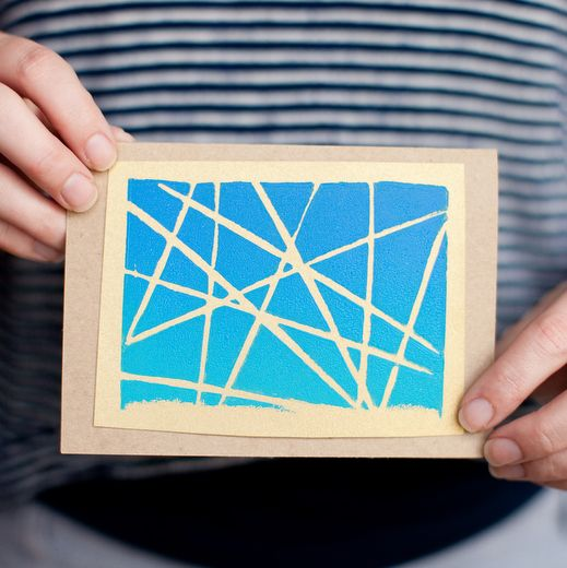 DIY Abstract Printed Cards   Whimseybox