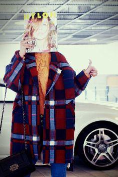 Oversized Plaid Coat from en.aura-j.kr // $118.89