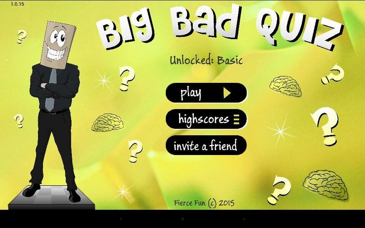 We're excited to announce that Big Bad Quiz is now on Facebook!Check out this link and invite your friends to play with you! https://goo.gl/MJuisB